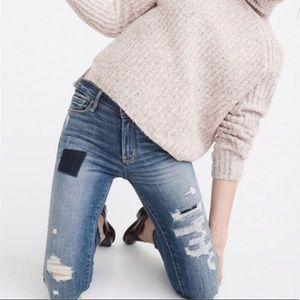 A&F Harper Low Rise Super Skinny Distressed Jeans